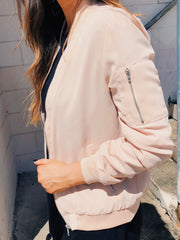 Chill By Choice Bomber Jacket Blush - Shellsea