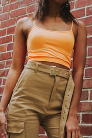 Bright Thing To Do Crop Top Orange - Shellsea
