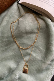 Layer Chain Padlock Necklace