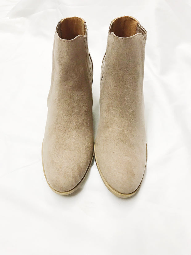 Strut Else Is New Booties Taupe