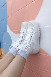 Day Trip High Top Sneakers White
