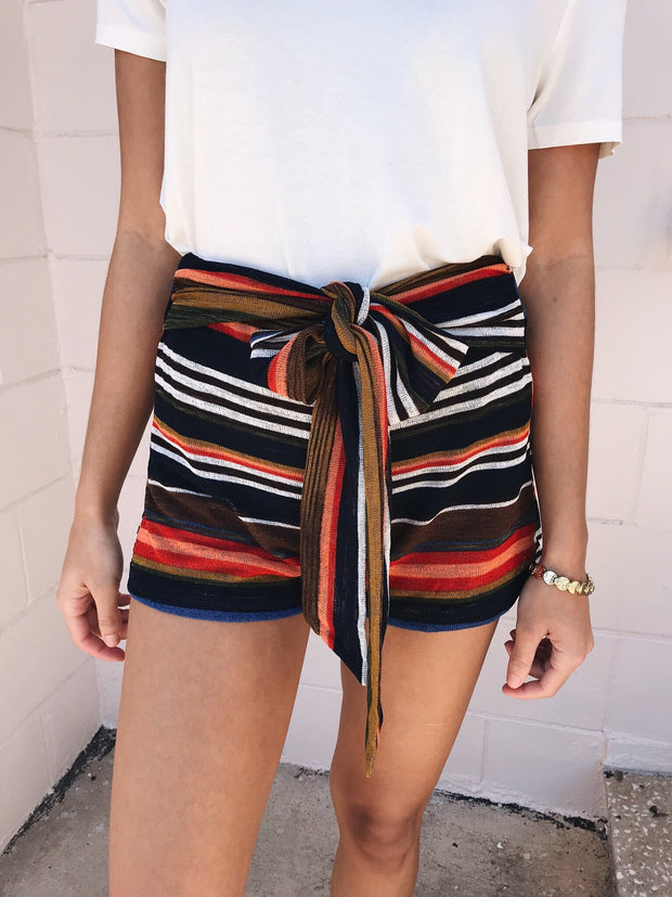 Vibed And True Striped Shorts