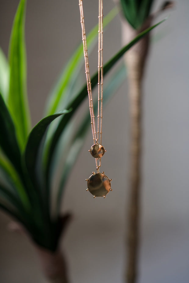 Dainty Disc Necklace Gold