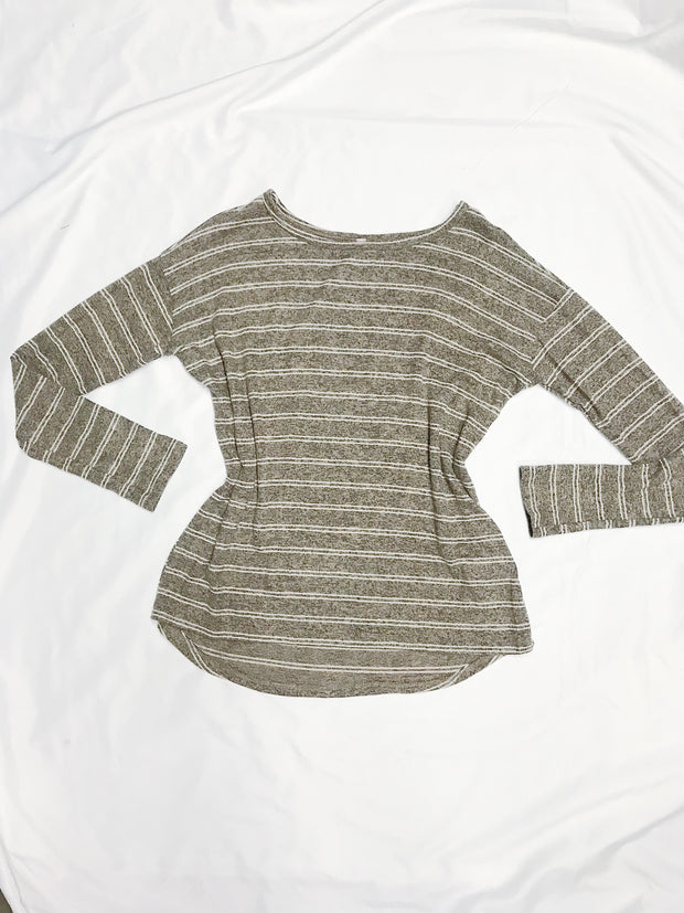Carried Away Top Taupe - Shellsea
