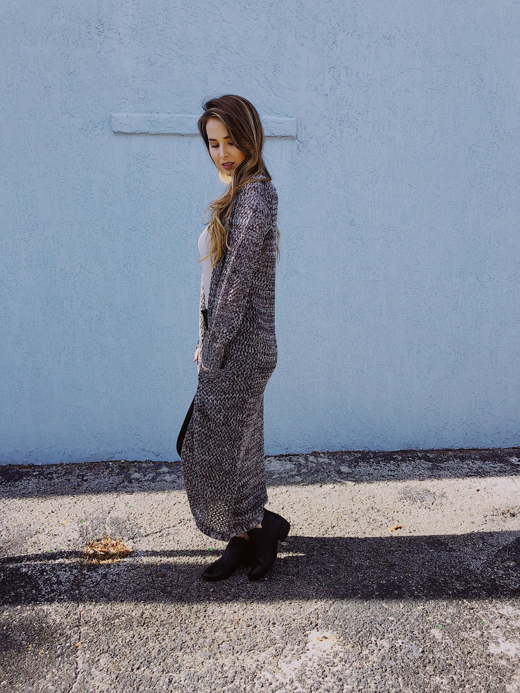 The Long Haul Cardigan Black