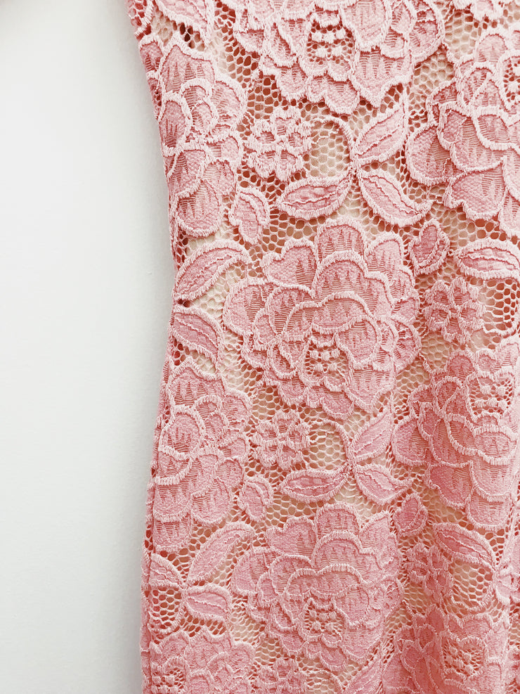 Just In Lace Dress Blush - Shellsea