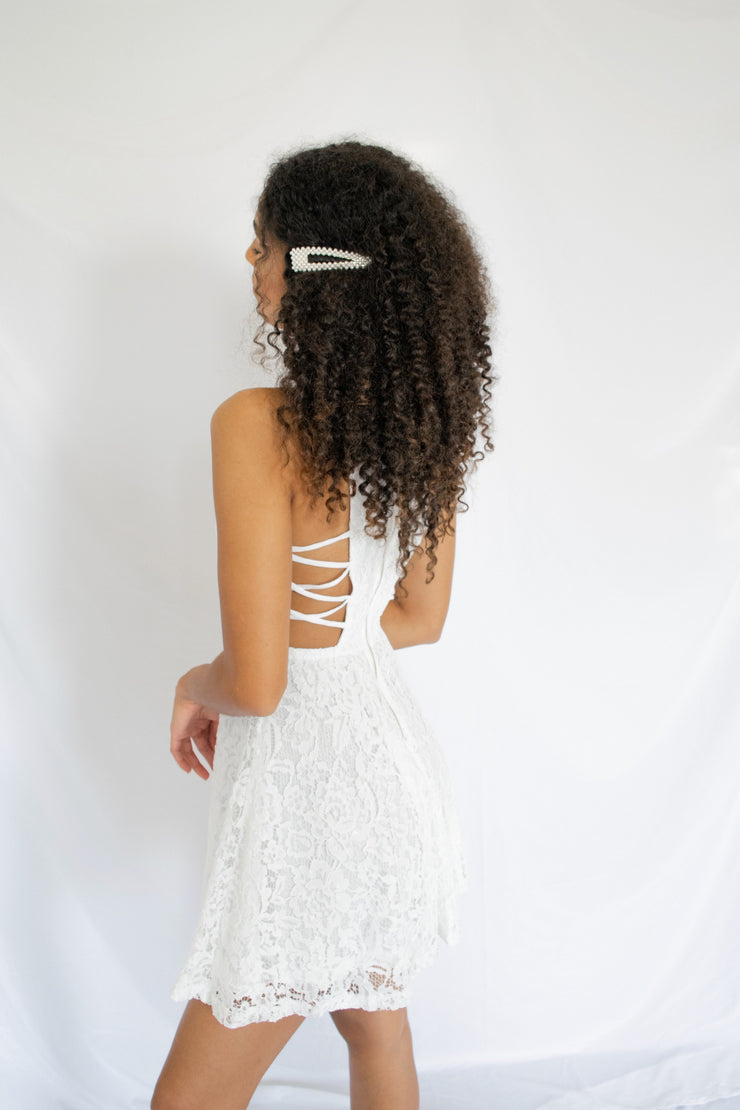 Aisle Be Seeing You Lace Dress Ivory - Shellsea