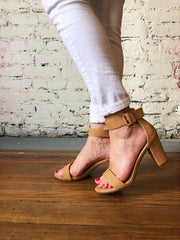 Walk My Way Heels Tan