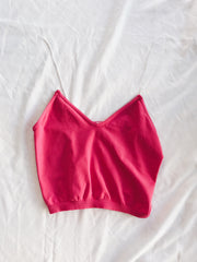Bright Line Crop Top Pink - Shellsea