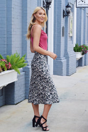 Worth A Twirl Midi Skirt Black
