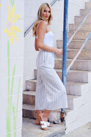 Flow Motion Striped Pants Ivory