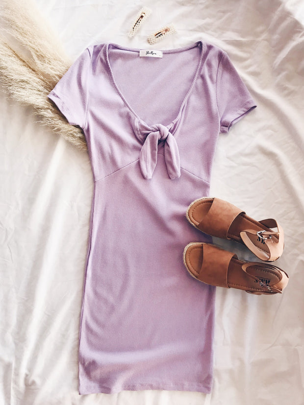 Dress Relief Ribbed Dress Lavender
