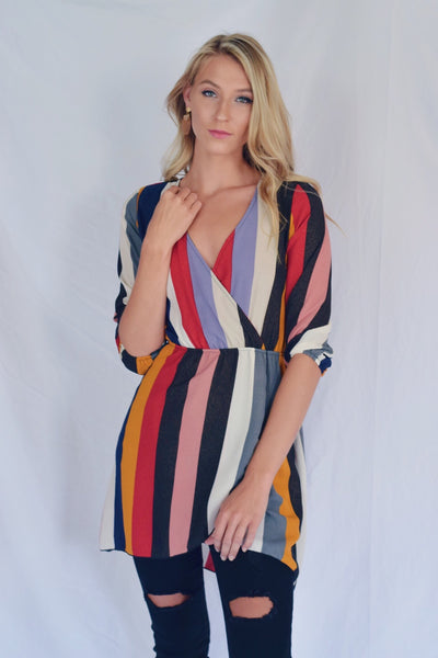 It's A Colorful Life Striped Dress