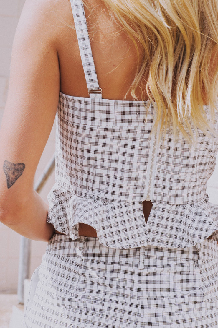 Sundreamer Crop Top Gingham