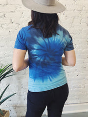 Red, White, and BOUJEE Tie Dye Top