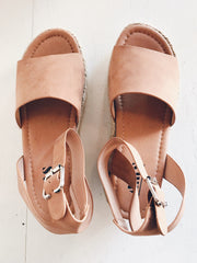 Trusted Strut Suede Espadrilles Tan