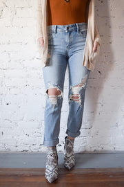 Mia Relaxed Cropped Jeans Light