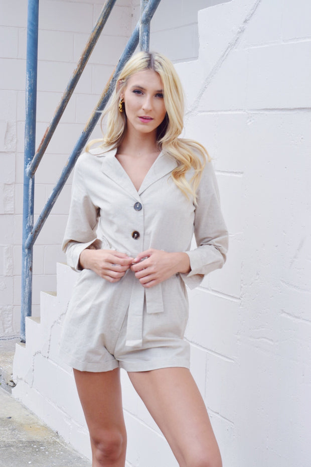 Suits You Well Linen Romper