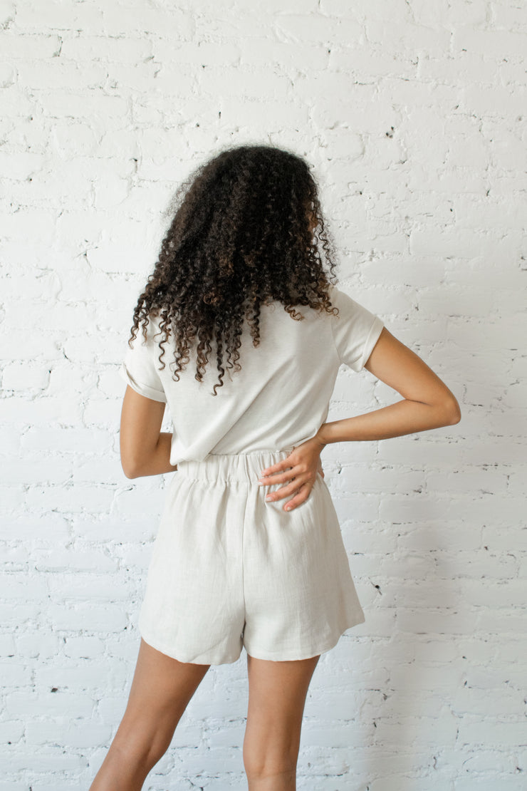 Easygoing Linen Shorts Natural