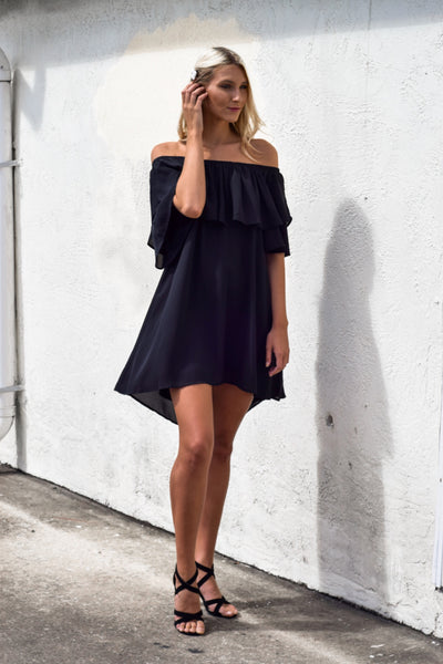 Shed A Tier Dress Black