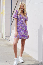 Flower Ranger Dress Purple