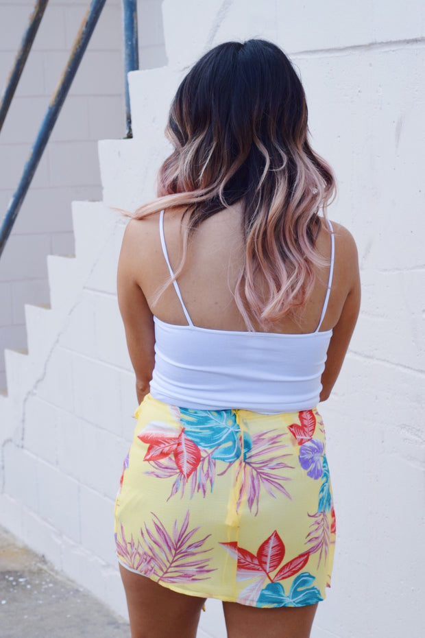 Tropical Sun Wrap Skirt Yellow