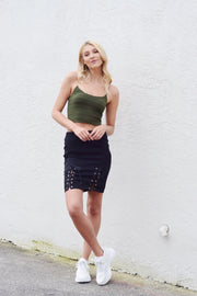 On The Edge Mini Skirt Black