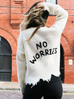 Ain't No Worries Distressed Sweater Ivory - Shellsea
