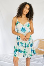 Resort Stay Floral Dress Tan