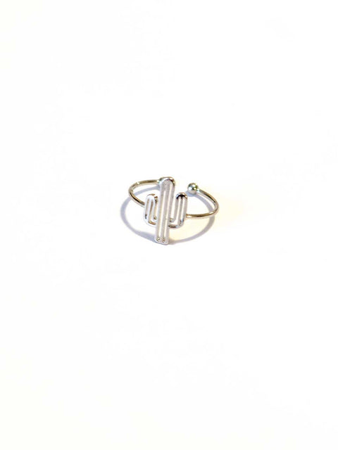 Arizona Cactus Ring Silver - Shellsea