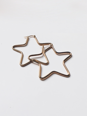 Wish Upon a Star Earrings Gold - Shellsea