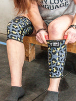 Lucky Leopard Single Ply Polyester Knee Sleeves
