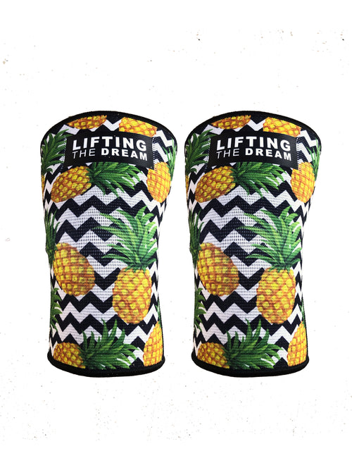 Pineapple Express Polyester Knee Sleeves