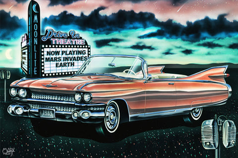 1959 Drive In Dream: By Artist Mark Watts