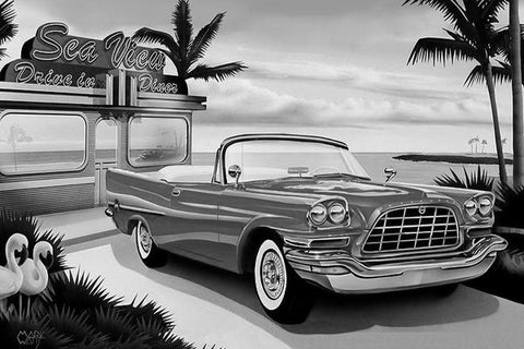 Bahama Breeze Black & White Art: By Artist Mark Watts