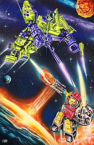 Transformer Devastator VS Omega 2020 Artist Mark Watts
