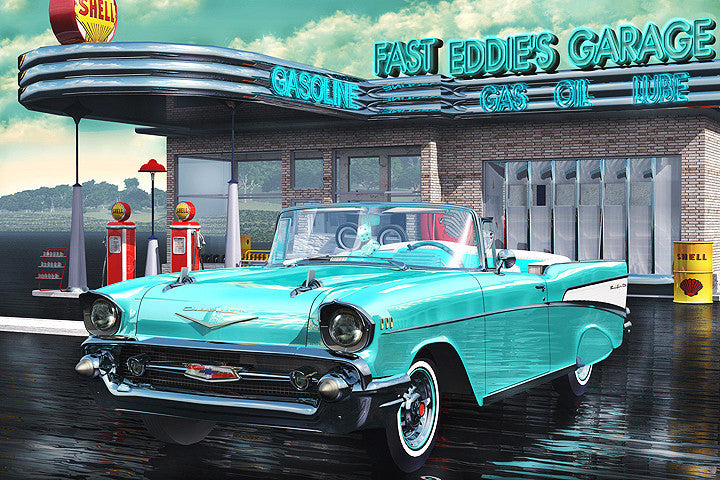 Fast Eddie's Garage: By Artist Mark Watts