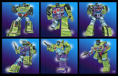 Construction Group Set Transformers: By Artist Mark Watts