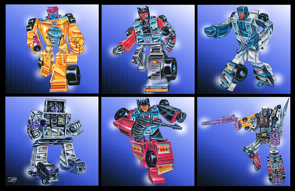Deceptions Group Set Transformers: By Artist Mark Watts