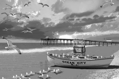 Ocean City Black & White: By Artist Mark Watts