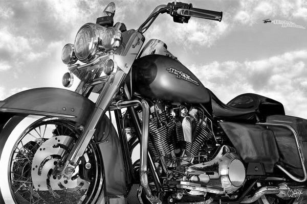 Road King By Black & White Art: By Artist Mark Watts