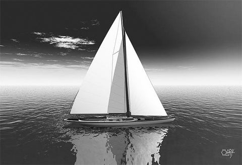 Sail Black & White: By Artist Mark Watts