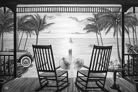 Sunset Serenade Black & White Art: By Artist Mark Watts