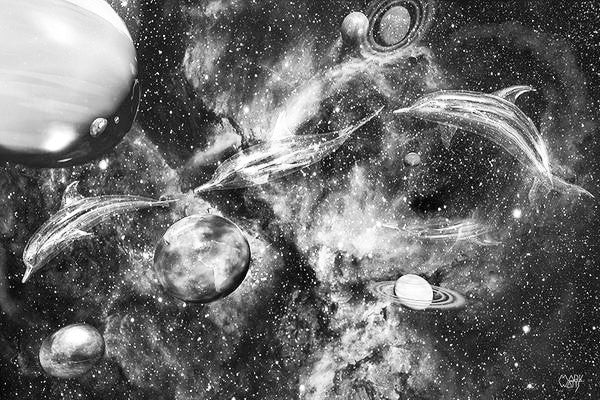 Symphony Of Space Black & White Art: By Artist Mark Watts