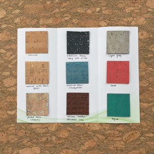 A MM Cork Swatch Card
