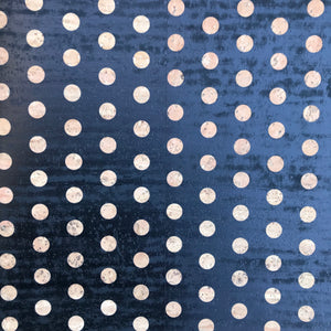 Printed Negative Polka Dots - Black on Natural