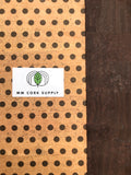 Printed Polka Dots - Small Chocolate on Natural