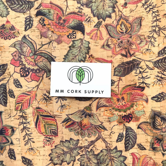 Printed Magic Garden Cork Fabric