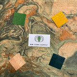 Printed Green Marble Cork Fabric