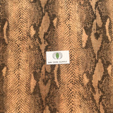 Printed Brown Snake Cork Fabric